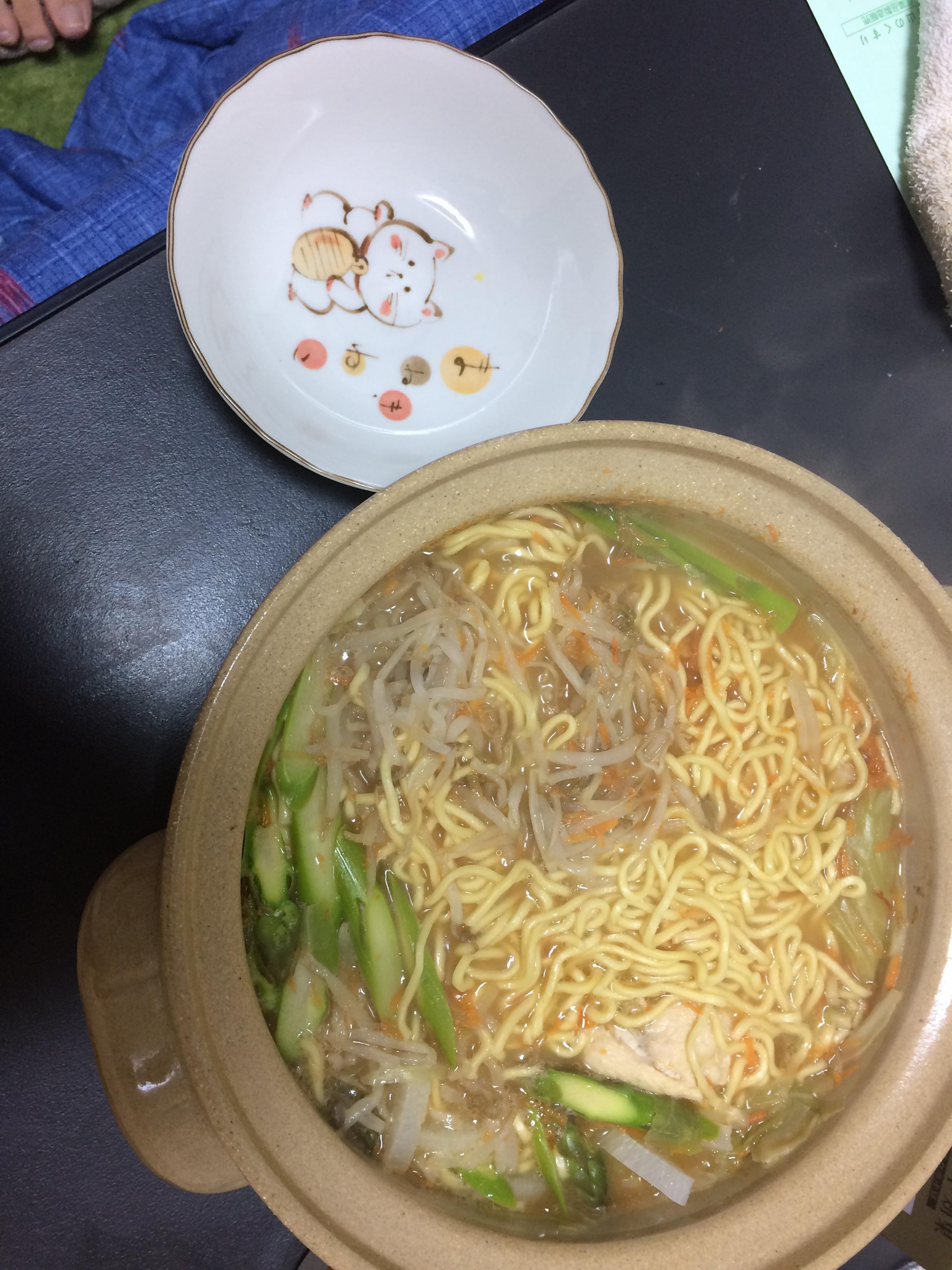 【新婚夫婦飯のリアル:二ヶ月目】麺類って楽!!米粉で納豆お好み焼きうまうま!!
